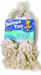 Booda - 3 Knot Rope Tug Dog Toy - White - Large