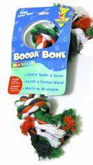 Booda - 2 Knot Rope Bone Dog Toy - Multi Colored -X Large