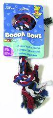 Booda - 2 Knot Rope Bone Dog Toy - Multi Colored - Small