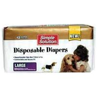 Bramton - Pupsters Disposable Diaper - White - Large - 12 Pack