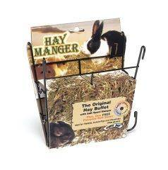 Super Pet - Hay Manger With Salt Hanger - 8 x 2.5 x7 Inch
