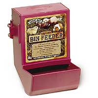 Super Pet - Gravity Bin Feeder with Bracket - Assorted - 5.75 x 5 x 8 Inch