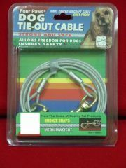Four Paws - Tie Out Cable - Red - 10 Feet