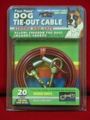 Four Paws - Heavy Tie Out Cable - Silver - 20 Feet