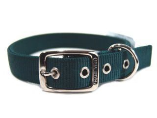 Hamilton Pet - Deluxe Double Thick Nylon Dog Collar - Hunter Green - 1 Inch x 24 Inch