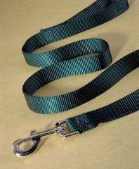 Hamilton Pet - Single Thick Nylon Dog Lead with Swivel Snap - Hunter Green - 3/4 x 4 Feet