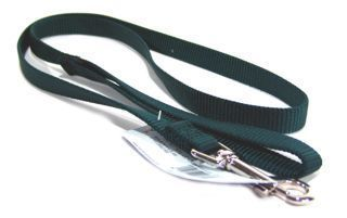 Hamilton Pet - Single Thick Nylon Lead with Swivel Snap - Hunter Green - 0.63 Inch x 4 Feet