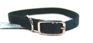 Hamilton Pet - Deluxe Single Thick Nylon Dog Collar - Hunter Green - 0.38 Inch x 12 Inch
