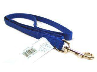 Hamilton Pet - Single Thick Nylon Lead with Swivel Snap - Blue - 5/8 Inch x 4 Feet