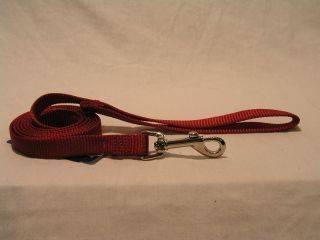 Hamilton Pet - Nylon Lead - Red - 5/8 Inch x 4 Feet