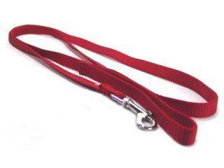 Hamilton Pet - Single Thick Nylon Lead with Swivel Snap - Red - 5/8 Inch x 6 Feet