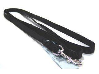 Hamilton Pet - Single Thick Nylon Lead with Swivel Snap - Black - 0.63 Inch x 6 Feet