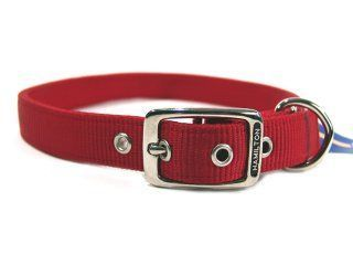 Hamilton Pet - Double Thick Nylon Deluxe Dog Collar - Red - 1 Inch x 28 Inch