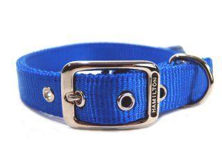 Hamilton Pet - Deluxe Double Thick Nylon Collar - Blue - 1 Inch x 22 Inch