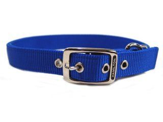 Hamilton Pet - Double Thick Nylon Deluxe Dog Collar - Blue - 1 Inch x 26 Inch