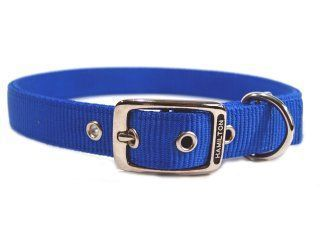 Hamilton Pet - Deluxe Double Thick Nylon Dog Collar - Blue - 1 Inch x 28 Inch
