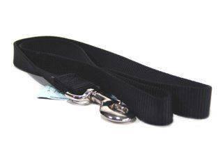 Hamilton Pet - Single Loop Nylon Lead with Swivel Snap - Black - 1 Inch x 4 Feet