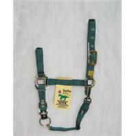 Hamilton Halter - 1Das 3-5 Adjustable Chin Halter with Snap - Hunter Green - Yearling