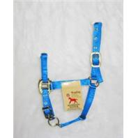 Hamilton Halter - 3Das 2-3 Adjustable Chin Halter with Snap - Blue - Weanling