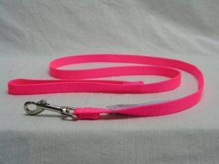 Hamilton Pet - Single Thick Nylon Lead with Swivel Snap - Hot Pink - 5/8 Inch x 6 Feet