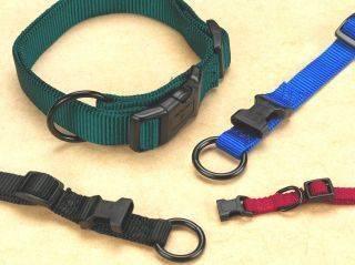Hamilton Pet - Adjustable Dog Collar - Black - 3/8 Inch x 7-12 Inch