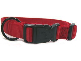 Hamilton Pet - Adjustable Dog Collar - Red  - 1 Inch x 18-26 Inch