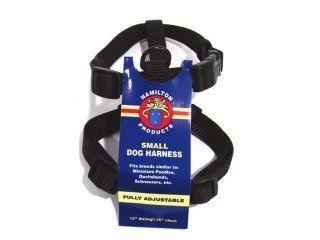 Hamilton Pet - Adjustable Comfort Nylon Harness - Black - 5/8 x 12-20 Inch