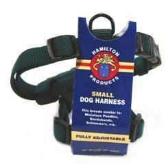 Hamilton Pet - Adjustable Comfort Nylon Harness - Hunter Green - 5/8 x 12-20 Inch