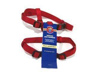 Hamilton Pet - Adjustable Comfort Dog Harness - Red - 3/4 x 20-30 Inch