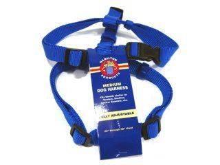 Hamilton Pet - Adjustable Comfort Nylon Harness - Blue - 3/4 x 20-30 Inch