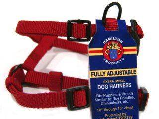 Hamilton Pet - Adjustable Comfort Dog Harness - Red - 3/8 x 10-16 Inch