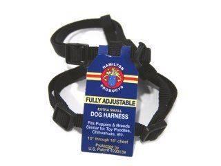 Hamilton Pet - Adjustable Comfort Dog Harness - Black - 3/8 x 10-16 Inch