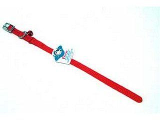 Hamilton Pet - Braided Safety Nylon Cat Collar - Red - 0.38 Inch x 12 Inch