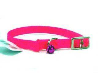 Hamilton Pet - Braided Safety Cat Collar - Hot Pink - 3/8 x 12 Inch