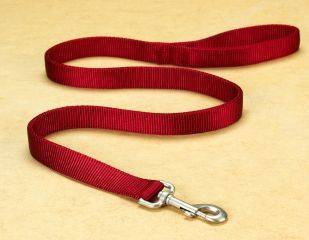 Hamilton Pet - Double Thick Nylon Lead with Swivel Snap - Red - 1 Inch x 4 Feet