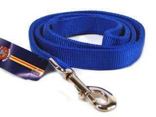 Hamilton Pet - Double Thick Nylon Lead with Swivel Snap - Blue - 1 Inch x 4 Feet