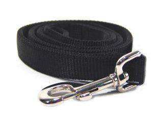 Hamilton Pet - Double Thick Nylon Lead with Swivel Snap - Black - 1 Inch x 4 Feet