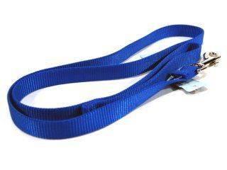 Hamilton Pet - Single Thick Nylon Lead with Swivel Snap - Blue - 3/4 x 4 Feet