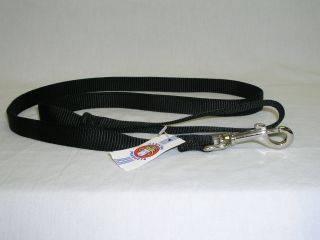 Hamilton Pet - Single Thick Nylon Lead with Swivel Snap - Black - 3/4 x 4 Feet