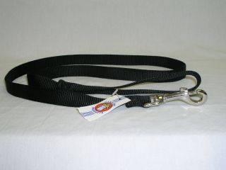 Hamilton Pet - Single Thick Nylon Lead with Swivel Snap - Black - 3/4 x 6 Feet