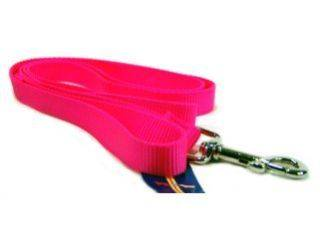 Hamilton Pet - Single Thick Adjustable Nylon Lead with Swivel Snap - HotPink - 3/4 x 6 Inch