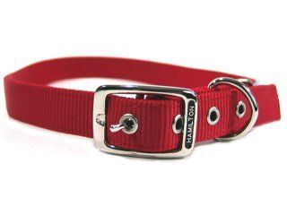 Hamilton Pet - Deluxe Double Thick Nylon Dog Collar - Red - 1 Inch x 30 Inch