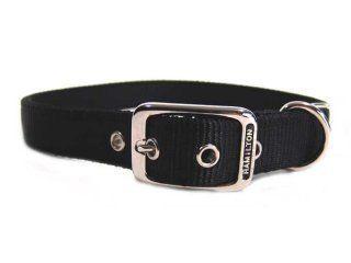 Hamilton Pet - Deluxe Double Thick Nylon Dog Collar - Black - 1 Inch x 30 Inch