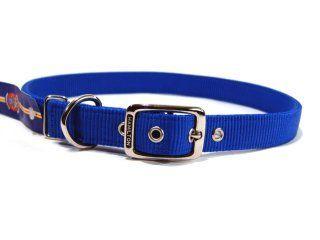 Hamilton Pet - Deluxe Double Thick Nylon Dog Collar - Blue - 1 Inch x 32 Inch