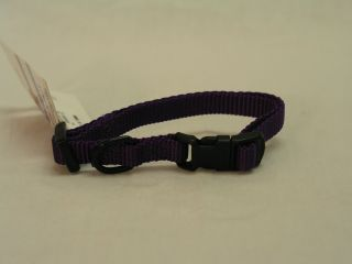 Hamilton Pet - Adjustable Nylon Dog Collar - HotPurple - 3/8 Inch x 7-12 Inch