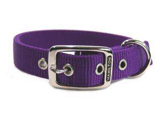 Hamilton Pet - Deluxe Double Thick Nylon Collar - Hot Purple - 1 x 20 Inch