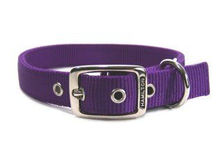 Hamilton Pet - Deluxe Double Thick Nylon Dog Collar - Hot Purple - 1 Inch x 22 Inch