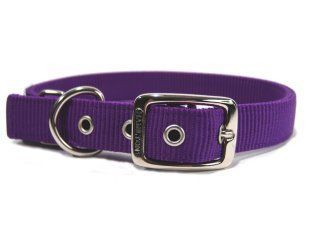Hamilton Pet - Deluxe Double Thick Nylon Dog Collar - Purple - 1 Inch x 24 Inch