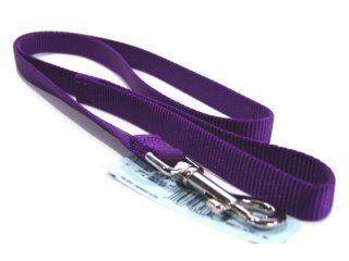 Hamilton Pet - Single Thick Nylon Lead with Swivel Snap - Hot Purple - 3/4 Inch x 4 Feet