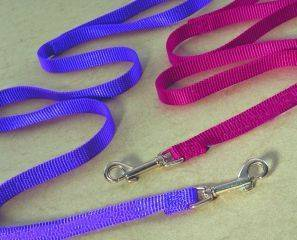 Hamilton Pet - Single Thick Nylon Lead with Swivel Snap - Hot Purple - 0.63 Inch x 6 Feet